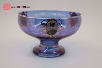 Picture of Shah Abbasi gold plated crystal chocolate bowl - Hamedan handicraft