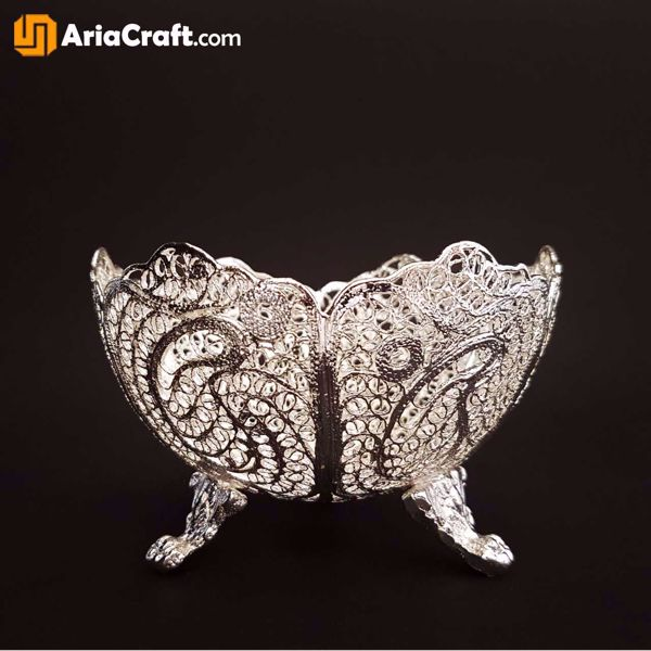 Picture of Filigree Nuts Bowl Dish 8 cm - Isfahan handicraft
