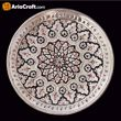 Picture of Metal Engraving Decorative Plate 20 cm with Panel - Isfahan handicraft