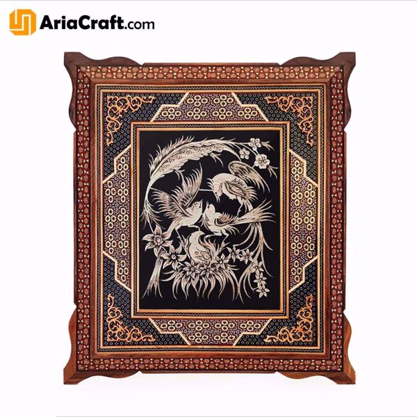 Picture of Metal Engraving and Khatam Decorative Panel 50*45 cm - Isfahan handicraft