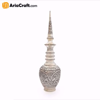 Picture of Metal Engraving Brass Decanter 35 cm with Silver Plating - Isfahan handicraft