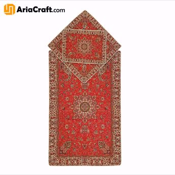 Picture of Yazd Termeh Praying Mat made of 5 Colors of High Quality Artificial Silk Set of 3 - Yazd handicraft
