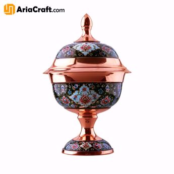 Picture of Painting on Copper Pardaz Candy & Chocolate Dish 19-33 cm  - Isfahan handicraft
