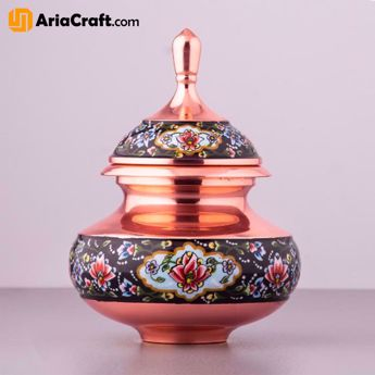 Picture of Painting on Copper Pardaz Decorative Dish 12-18 cm - Isfahan handicraft