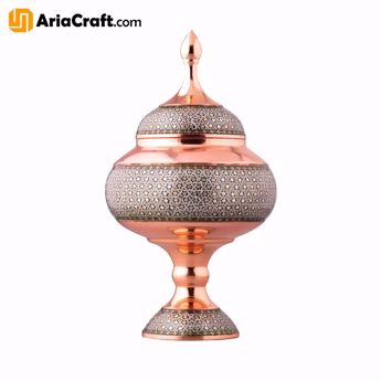 Picture of Khatam on Copper Candy and Chocolate Dish 13-26 cm  - Isfahan handicraft