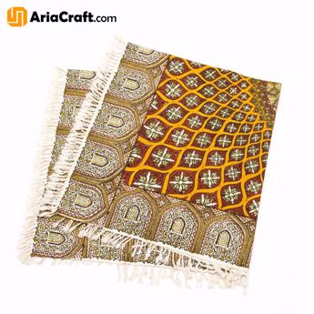 Picture of Ghalamkar Handprinted Persian Textile 100*100 cm Best Quality - Isfahan handicraft