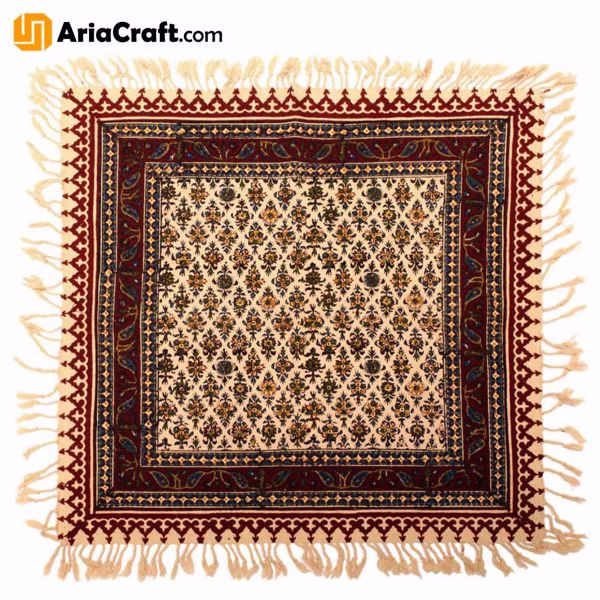 Picture of Ghalamkar Handprinted Persian Textile 50*50 cm Best Quality - Isfahan handicraft