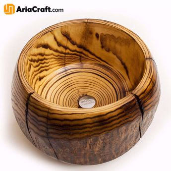 Picture of Woodturning Wooden Bowl High-Quality Handmade Decorative Bowl - Isfahan Handicraft