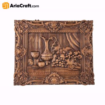 Picture of Woodcarving Board High-Quality Handmade Wooden Board Fruits Model - Persian Handicraft